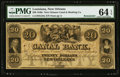 Obsoletes By State:Louisiana, New Orleans, LA- New Orleans Canal & Banking Company $20 18__ G34a Remainder. ...
