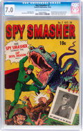 Golden Age (1938-1955):Superhero, Spy Smasher #7 (Fawcett Publications, 1942) CGC FN/VF 7.0 Cream to off-white pages....