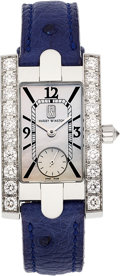Estate Jewelry:Watches, Harry Winston Lady's Diamond, White Gold Avenue Watch. ...