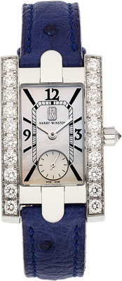 Harry Winston Lady's Diamond, White Gold Avenue Watch