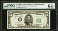 Small Size:Federal Reserve Notes, Fr. 1963-E* $5 1950B Federal Reserve Star Note. PMG Choice Uncirculated 64 EPQ.. ...