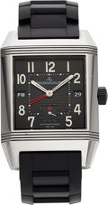 Estate Jewelry:Watches, Jaeger LeCoultre Gentleman's Stainless Steel Reverso Squadra Watch. ...
