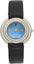 Estate Jewelry:Watches, Audemars Piguet Lady's Diamond, Mother-of-Pearl, White Gold Watch. ...