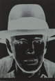 Andy Warhol (1928-1987) Joseph Beuys, 1980 The complete portfolio of three screenprints on Arches Cover Black paper (F...