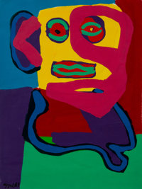 Karel Appel (1921-2006) Untitled, 1969 Gouache on paper 26 x 19-3/4 inches (60.04 x 50.16 cm) (sh