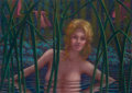 Fine Art - Painting, American:Contemporary   (1950 to present)  , Leonard J. Koscianski (b. 1952). Blond in Pond. Pastel onpaper. 29-1/2 x 41-1/2 inches (74.93 x 105...