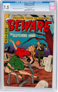 Golden Age (1938-1955):Horror, Beware #14 (#2) (Trojan/Prime, 1953) CGC VF- 7.5 Off-white to whitepages....