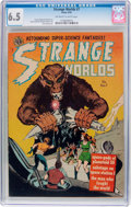 Golden Age (1938-1955):Science Fiction, Strange Worlds #7 (Avon, 1952) CGC FN+ 6.5 Off-white to white pages....