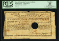 Colonial Notes, Connecticut Treasury Certificate £10 13s 2d Jan. 4, 1782 AndersonCT-20 PCGS Apparent Very Fine 20.. ...