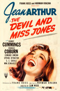 """Movie Posters:Comedy, The Devil and Miss Jones (RKO, 1941). One Sheet (27"""" X 41"""").. ..."""