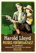 "Movie Posters:Comedy, Pistols for Breakfast (Pathé, 1919). One Sheet (28"" X 41"").. ..."