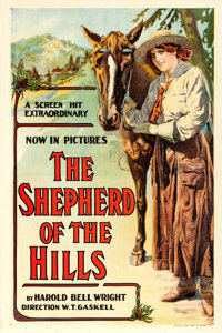 """The Shepherd of the Hills (W.T. Gaskell, 1919). One Sheet (28"""" X 42.25"""")"""