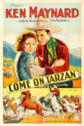 "Movie Posters:Western, Come On, Tarzan (KBS, 1932). One Sheet (27"" X 40.5"").. ..."