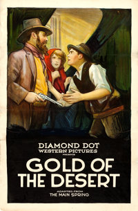 "Gold of the Desert (Diamond Dot, 1923). One Sheet (26.75"" X 41.75"")"
