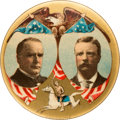 """Political:Pinback Buttons (1896-present), McKinley & Roosevelt: Mint, Large Size 1 3/4"""" Rough Rider Jugate by Baltimore Badge...."""