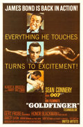 """Movie Posters:James Bond, Goldfinger (United Artists, 1964). One Sheet (27"""" ..."""
