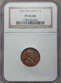 Proof Lincoln Cents, 1936 1C Type Two--Brilliant Finish PR65 Red and Brown NGC. NGC Census: (15/4). PCGS Population: (19/1). Mintage 5,569. ...