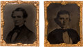 Political:Ferrotypes / Photo Badges (pre-1896), Jefferson Davis & Alexander Stephens: Matched Pair of Abbott Tintypes.... (Total: 2 Items)