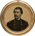 Political:Ferrotypes / Photo Badges (pre-1896), George B. McClellan: Largest Size Campaign Ferrotype....