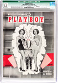 Magazines:Miscellaneous, Playboy #2 Incomplete (HMH Publishing, 1954) CGC Qualified FN- 5.5 White pages....