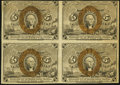 Fractional Currency, Fr. 1233 5¢ Second Issue Block of Four Very Fine.. ...