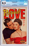 Golden Age (1938-1955):Romance, Personal Love #19 (Famous Funnies Publications, 1953) CGC VF+ 8.5Off-white pages....