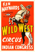"Movie Posters:Western, Ken Maynard's Wild West Circus (1936). One Sheet (28.5"" X 42"")....."