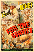 "Movie Posters:Western, For the Service (Universal, 1936). One Sheet (27.5"" X 41"").. ..."