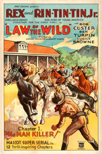 """Law of the Wild (Mascot, 1934). One Sheet (27.25"""" X 41"""") Chapter 1 -- """"The Man Killer."""""""