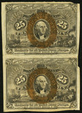 Fractional Currency, Fr. 1284 25¢ Second Issue Vertical Pair Very Fine.. ...