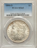 Morgan Dollars: , 1890-O $1 MS65 PCGS. PCGS Population: (748/28). NGC Census: (204/2). CDN: $1,200 Whsle. Bid for problem-free NGC/PCGS MS65....