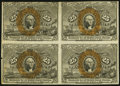 Fractional Currency, Fr. 1286 25¢ Second Issue Block of Four Extremely Fine.. ...
