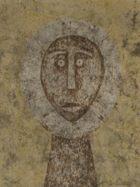Rufino Tamayo (1899-1991) Cabeza en Gris, 1979 Etching in colors on heavy wove paper 29-1/2 x 21-