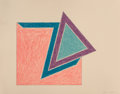 Fine Art - Work on Paper:Print, Frank Stella (b. 1936). Moultonboro, 1974. Lithograph andscreenprint in colors on Arches paper. 17-1/4 x 22-1/4 inches ...