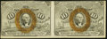 Fractional Currency, Fr. 1244 10¢ Second Issue Horizontal Uncut Pair New.. ...
