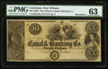 Obsoletes By State:Louisiana, New Orleans, LA- New Orleans Canal & Banking Co. $20 18__ G34a Remainder. ...