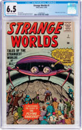 Silver Age (1956-1969):Science Fiction, Strange Worlds #1 (Atlas, 1958) CGC FN+ 6.5 Cream to off-whitepages....