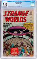 Silver Age (1956-1969):Science Fiction, Strange Worlds #1 (Atlas, 1958) CGC VG 4.0 Off-white to whitepages....