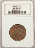 Large Cents, 1820 1C Large Date, N-13, R.1, MS65 Brown NGC....