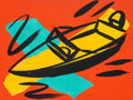 Fine Art - Painting, American:Contemporary   (1950 to present)  , Tom Slaughter (1955-2014). Boat, 1993. Acrylic on canvas.11-3/4 x 16 inches (29.84 x 40.64 cm). Signed and dated on the...