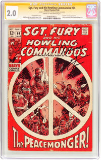Sgt. Fury and His Howling Commandos #64 (Marvel, 1969) CGC Signature Series GD 2.0 Cream to off-white pages