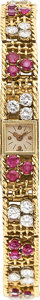 Estate Jewelry:Watches, Vacheron & Constantin Lady's Diamond, Ruby Gold Watch. ...