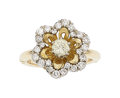 Estate Jewelry:Rings, Diamond, Platinum-Topped Gold Ring. ...