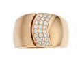 Estate Jewelry:Rings, Diamond, Rose Gold Ring The ring features full...