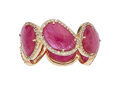 Estate Jewelry:Rings, Ruby, Diamond, Rose Gold Eternity Band The rin...