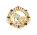 Estate Jewelry:Rings, Diamond, Ruby, Gold Ring  The spinning horse r...