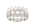 Estate Jewelry:Rings, Diamond, White Gold Ring The ring features ful...