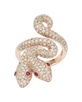 Estate Jewelry:Rings, Diamond, Ruby, Rose Gold Ring . ...