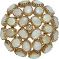 Estate Jewelry:Brooches - Pins, Opal, Diamond, Gold Pendant-Brooch. ...