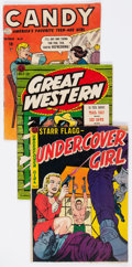 Golden Age (1938-1955):Miscellaneous, Comic Books - Assorted Golden Age Comics Group of 14 (Various Publishers, 1950s) Condition: Average GD/VG.... (Total: 14 Comic Books)